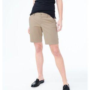 Aeropostale tan Bermuda uniform shorts